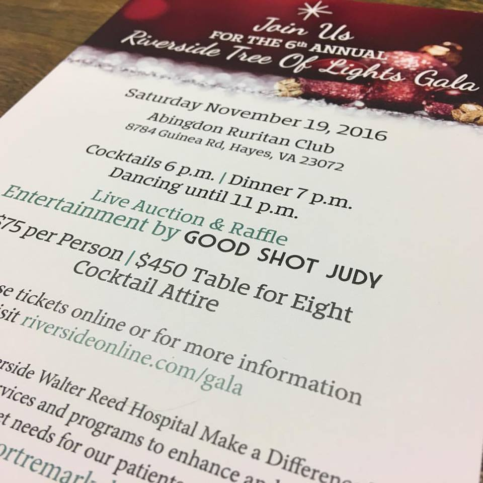 Riverside Tree of Lights Gala 2016 Invitation
