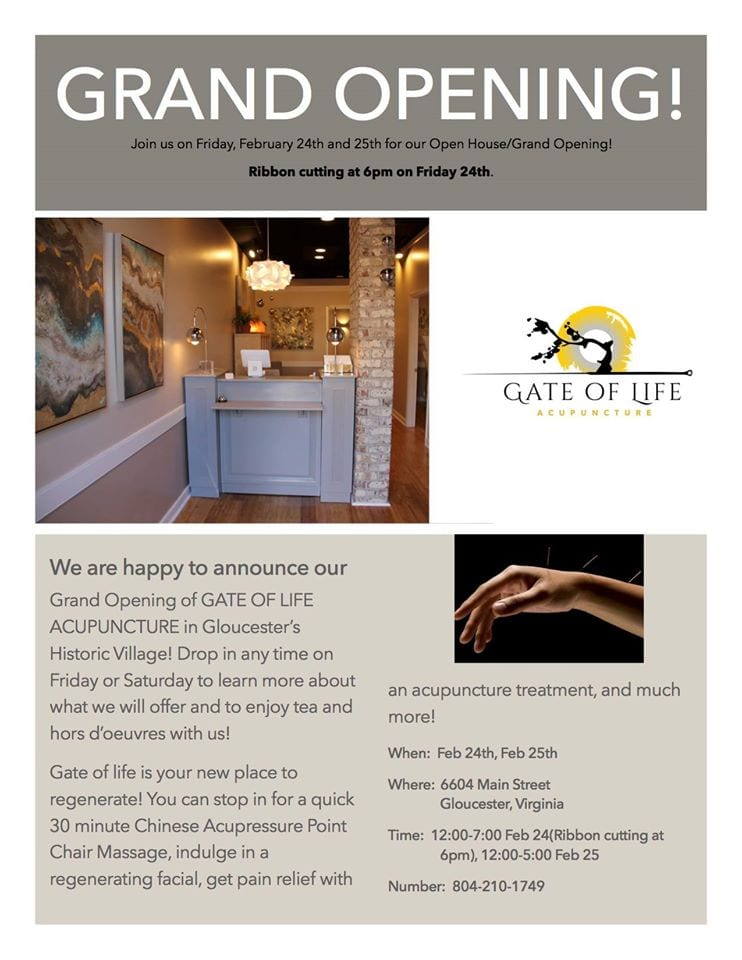 Gate Of Life Acupuncture Celebrates Grand Opening Gloucester Village