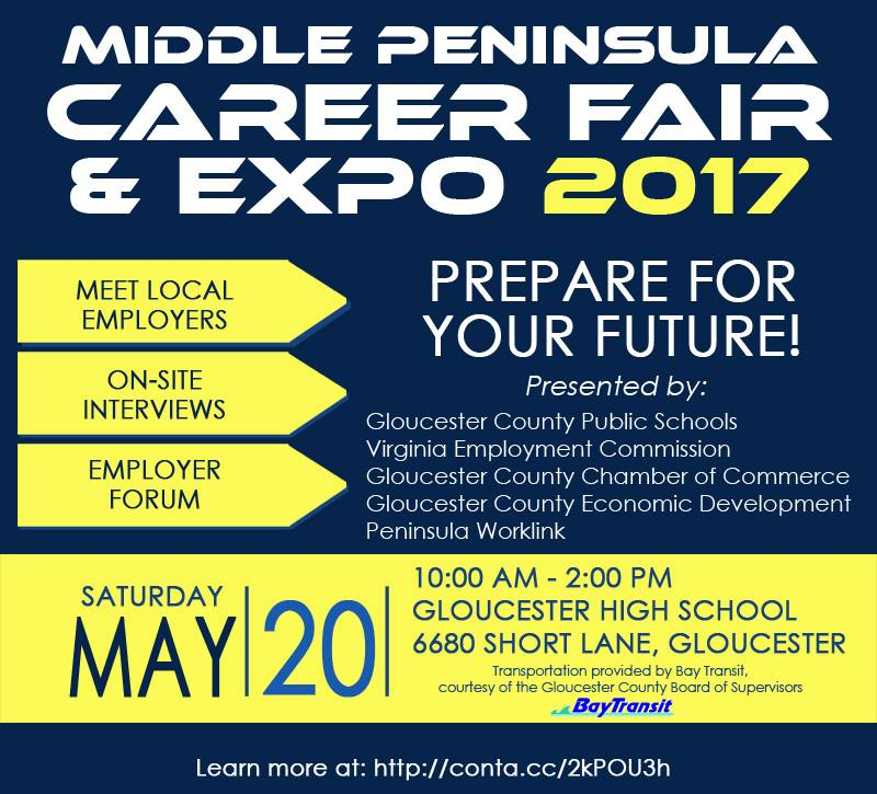 Middle Peninsula Career Fair And Expo To Be Held May 20th