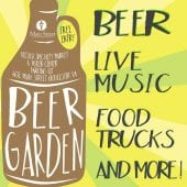 Beer Garden Event Flyer for Main Street