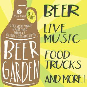 Beer Garden Event Flyer for Main Street