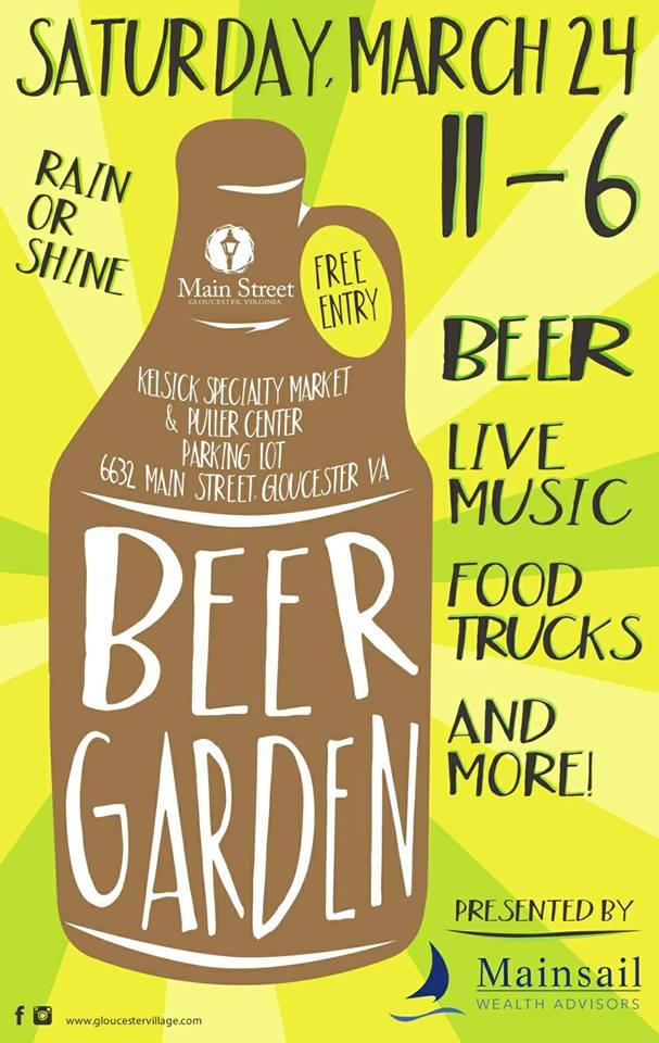 2018 Beer Garden Flyer