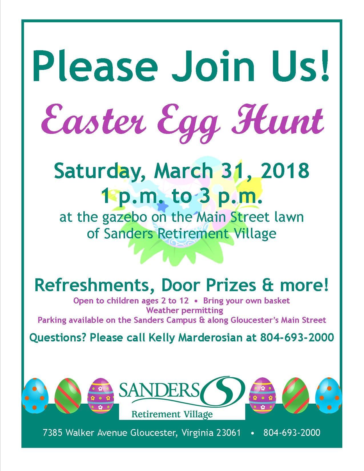Easter Egg Hunt 2018 at Riverside Sanders Retirement Community