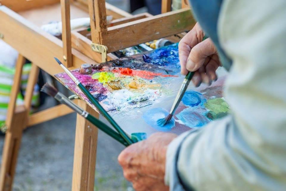 Gloucester Arts Festival Artist Painting
