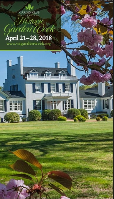 Cover photo of the Garden Club of Virginia Historic Garden Week book