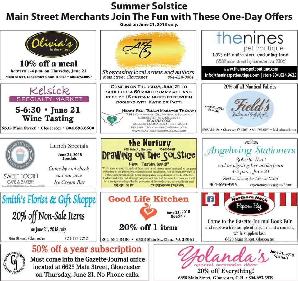 Gazette Journal\'s \'A Day With Words\' has Main Street Merchants ...