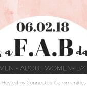 FAB flyer For Women, By Women, About Woman