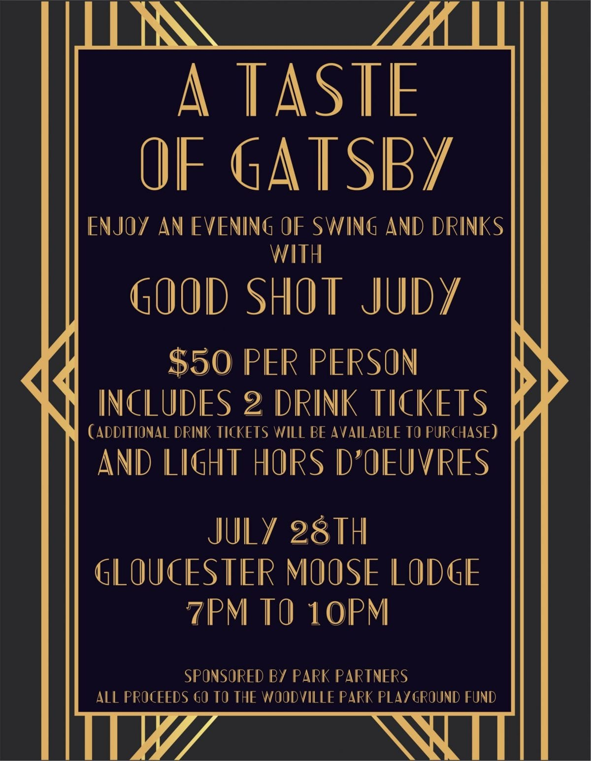 Flyer for Gatsby