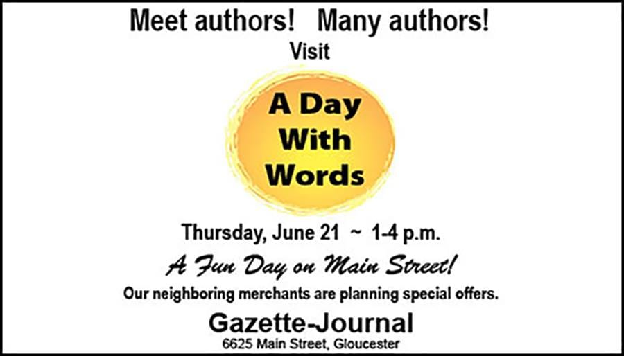 Flyer for A Day with Words
