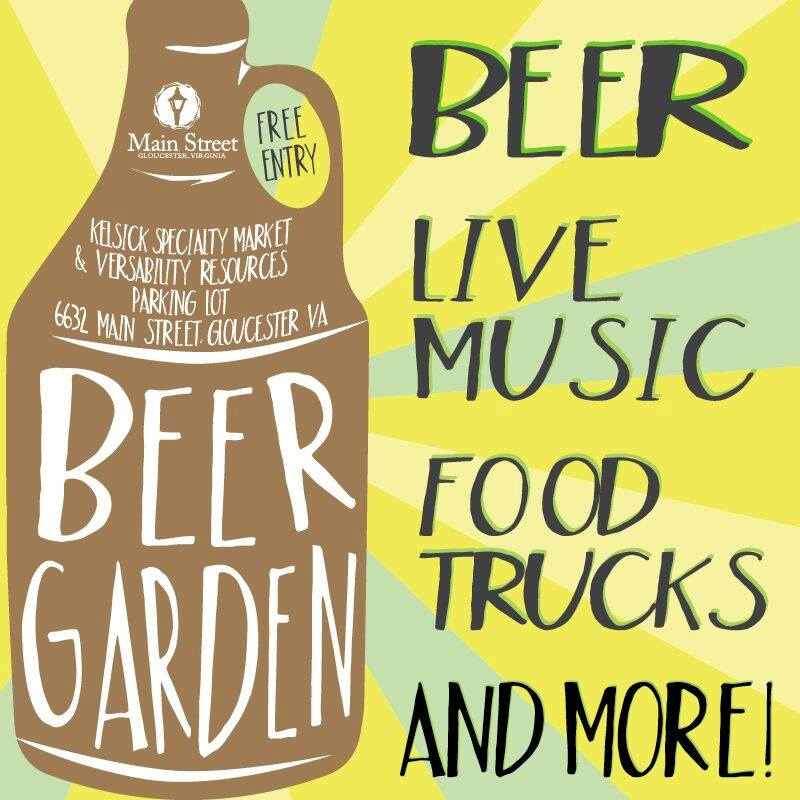 Gloucester Main Street Beer Garden Graphic