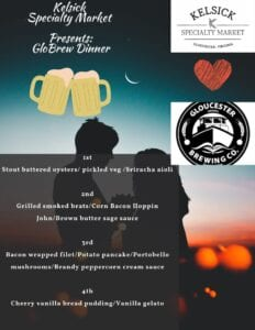 flyer for beer dinner event