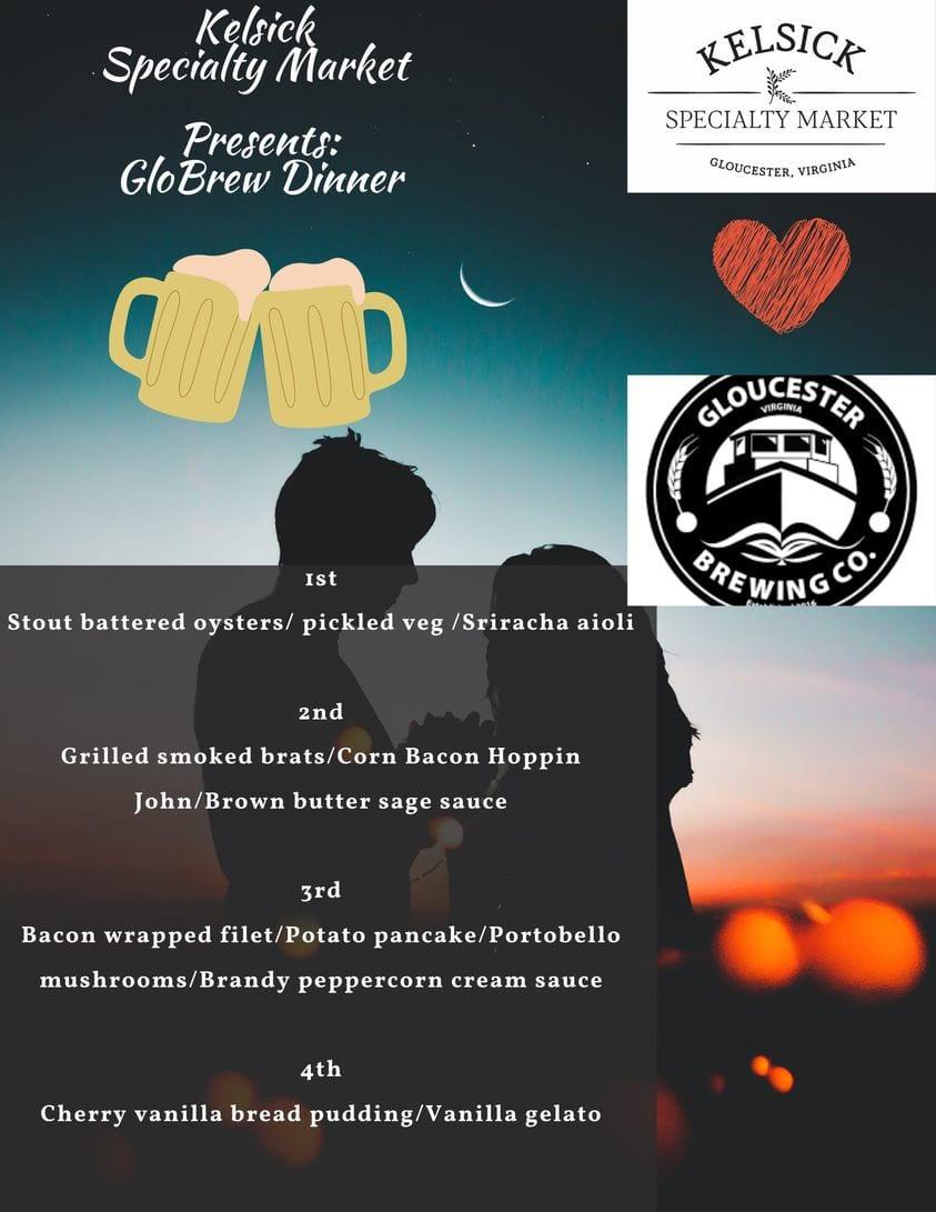 flyer for beer dinner event