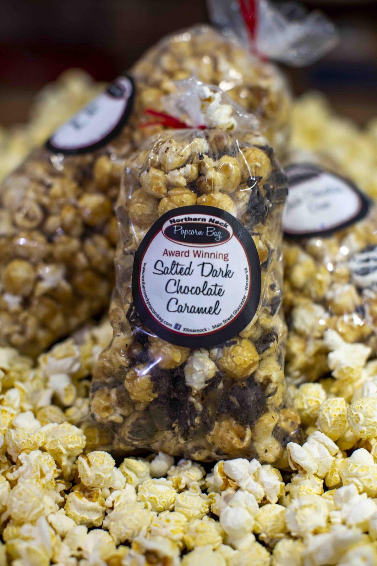 Northern Neck Popcorn Bag Salted Dark Chocolate Caramel