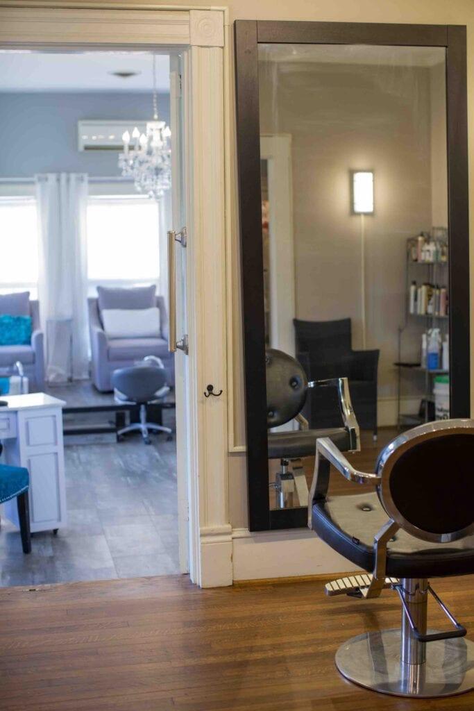 Split Enz Salon Interior